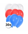 30x ballonnen in slowaakse kleuren