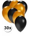 30x ballonnen zwart en goud