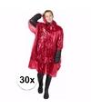 30x wegwerp regenponcho rood
