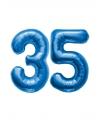 35 jaar folie ballonnen blauw