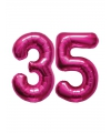 35 jaar folie ballonnen roze