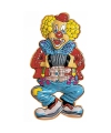 3d wanddecoratie clown met accordeon