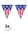 3x amerika vlaggenlijn 4 meter