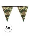 3x camouflage vlaggenlijn 6 meter