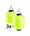 3x gele solar lampion 55 cm