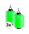 3x groene solar lampionnen 55 cm