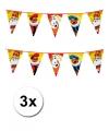 3x sinterklaas vlaggenlijn xxl