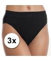 3x sloggi double comfort tai slip dames zwart