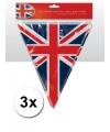 3x union jack vlaggenlijn 3 6 meter