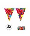 3x vlaggenlijn 85 jaar met gratis sticker