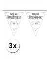 3x vlaggenlijn bruidspaar