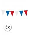 3x vlaggenlijn holland rood wit blauw