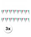 3x vlaggenlijn italie 10 meter