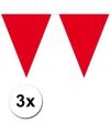 3x vlaggenlijn rood 10 meter