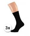3x zwarte kwaliteit heren sokken maat 39 42