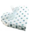 4 geschenkdoosjes wit hart met blauwe stippen