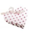4 geschenkdoosjes wit hart met roze stippen