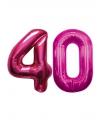 40 jaar folie ballonnen roze
