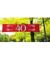 40 jaar jubileum banner