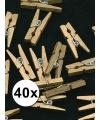 40x mini knijpertjes goud