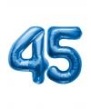 45 jaar folie ballonnen blauw