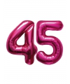 45 jaar folie ballonnen roze