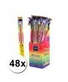48 neon sterretjes 45 cm