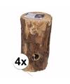 4x zweedse boom fakkel 20 cm