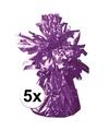 5 ballongewichten paars 170 gr