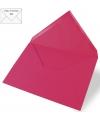5 fuchsia enveloppen voor a6 kaarten