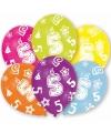 5 jaar leeftijd ballonnen 6 stuks