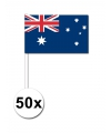 50 australische zwaaivlaggetjes 12 x 24 cm
