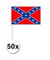 50 geconfedereerde staten van amerika zwaaivlaggetjes 12 x 24 cm