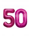 50 jaar folie ballonnen roze