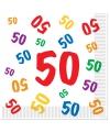 50 jaar servetten 16 stuks