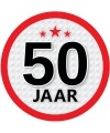 50 jaar sticker rond 15 cm