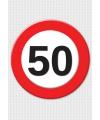 50 jaar stopbord mega deurposter