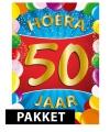 50 jaar versierings pakket gekleurd