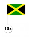 50 jamaicaanse zwaaivlaggetjes 12 x 24 cm