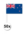 50 nieuw zeelandse zwaaivlaggetjes 12 x 24 cm