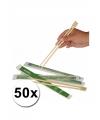 50 paar eetstokjes van bamboe hout