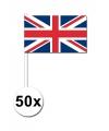 50 verenigd koninkrijk zwaaivlaggetjes 12 x 24 cm