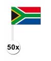 50 zuid afrikaanse zwaaivlaggetjes 12 x 24 cm