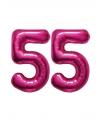 55 jaar folie ballonnen roze