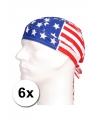 6 amerikaanse vlag bandana s