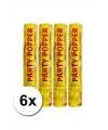 6 confetti kanonnen goud 28 cm