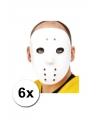 6 ijshockey maskers