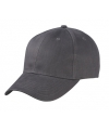6 panel baseball cap antraciet