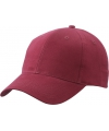 6 panel baseball cap bordeaux