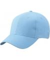 6 panel baseball cap licht blauw